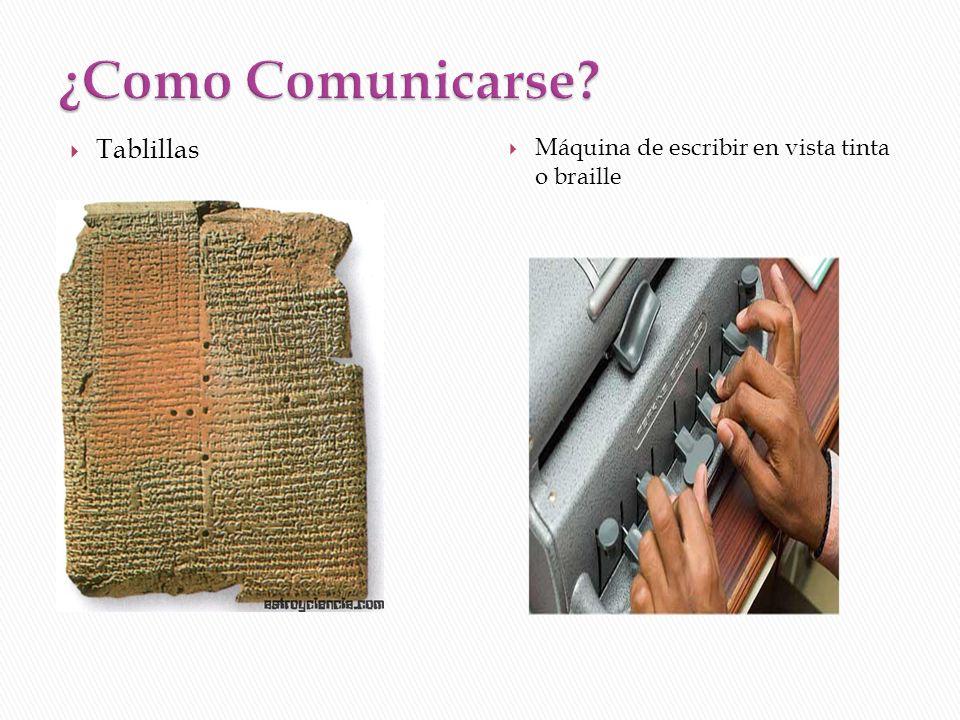 ¿Como Comunicarse Tablillas