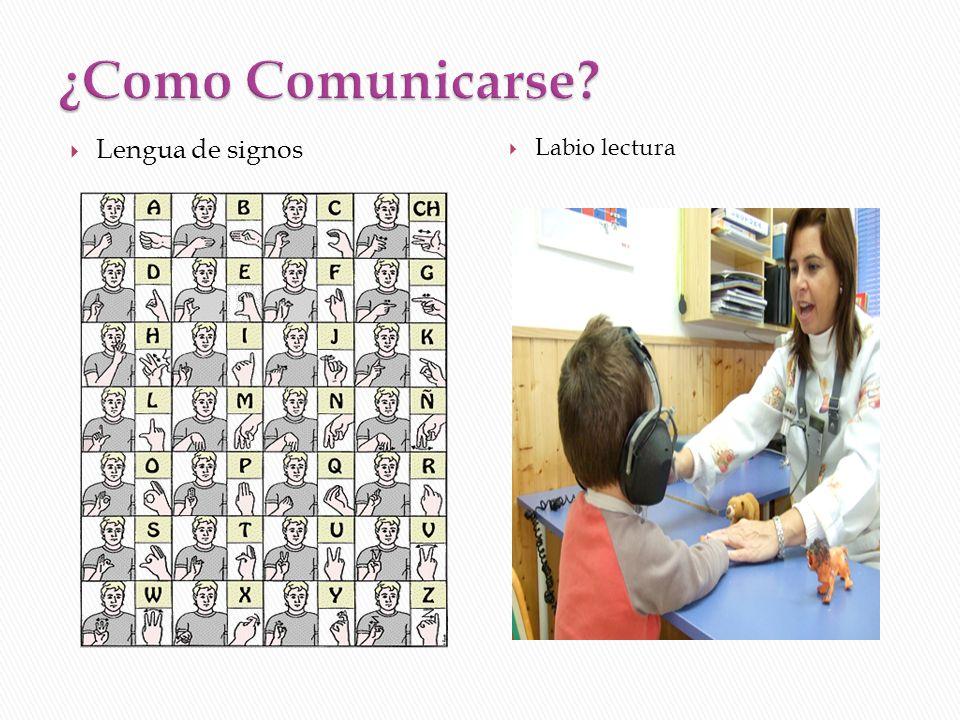 ¿Como Comunicarse Lengua de signos Labio lectura