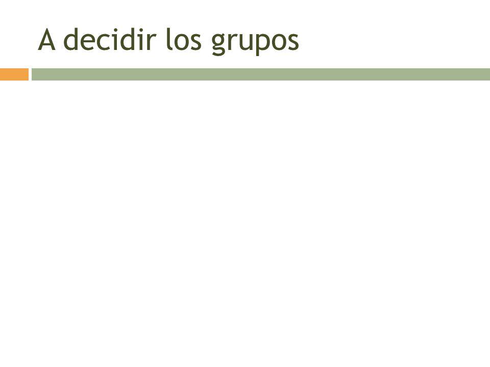 A decidir los grupos