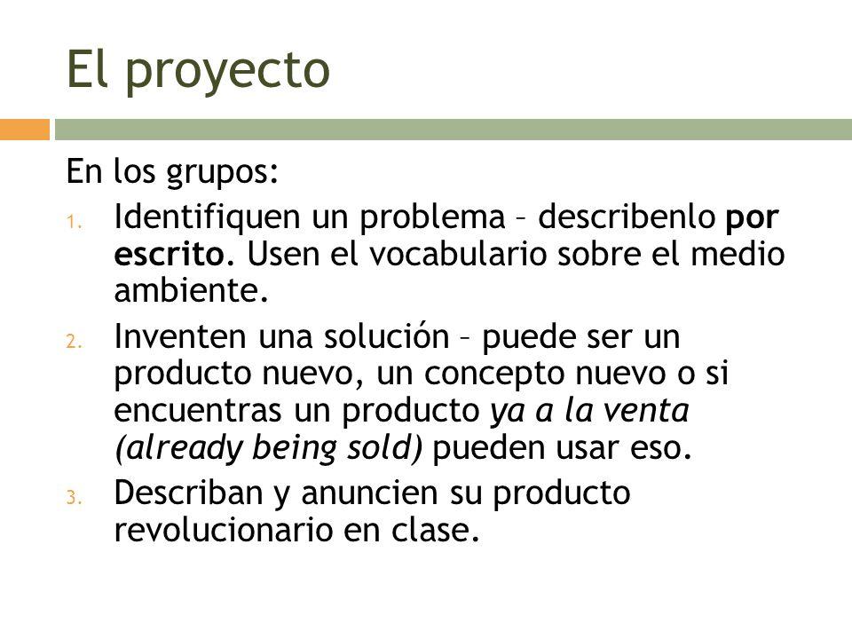El proyecto En los grupos: