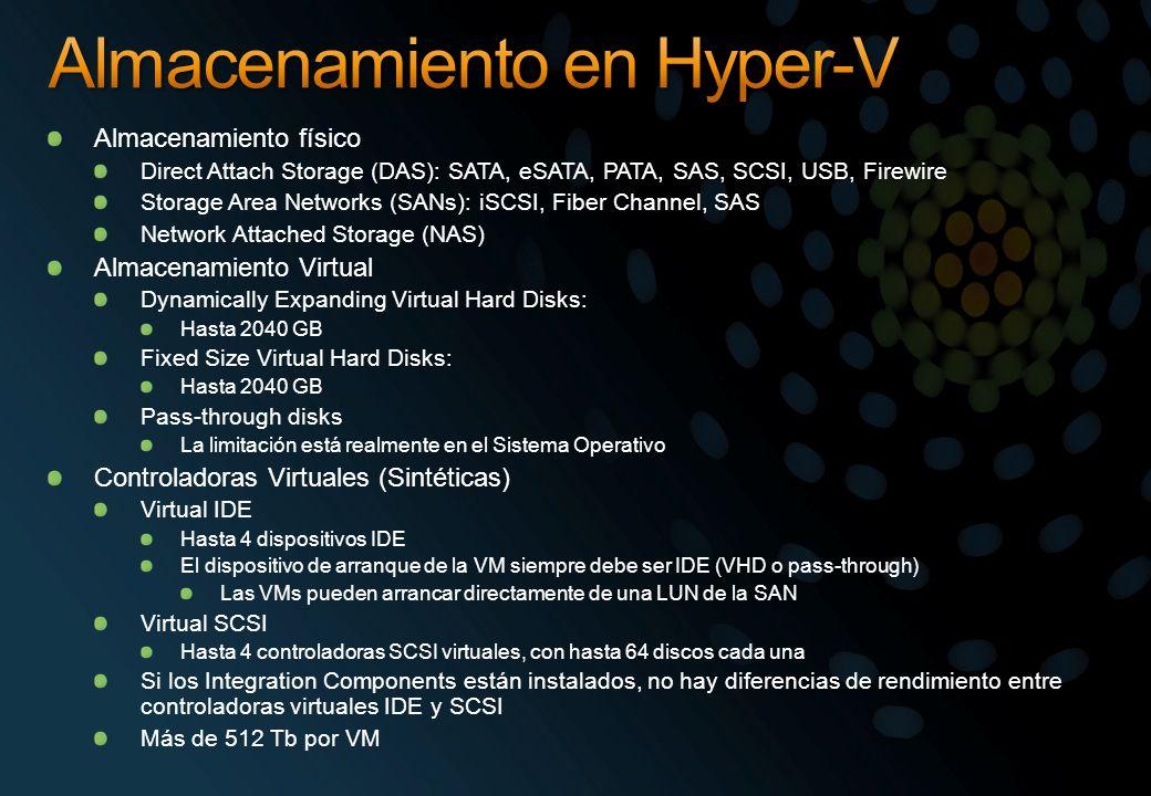 Almacenamiento en Hyper-V
