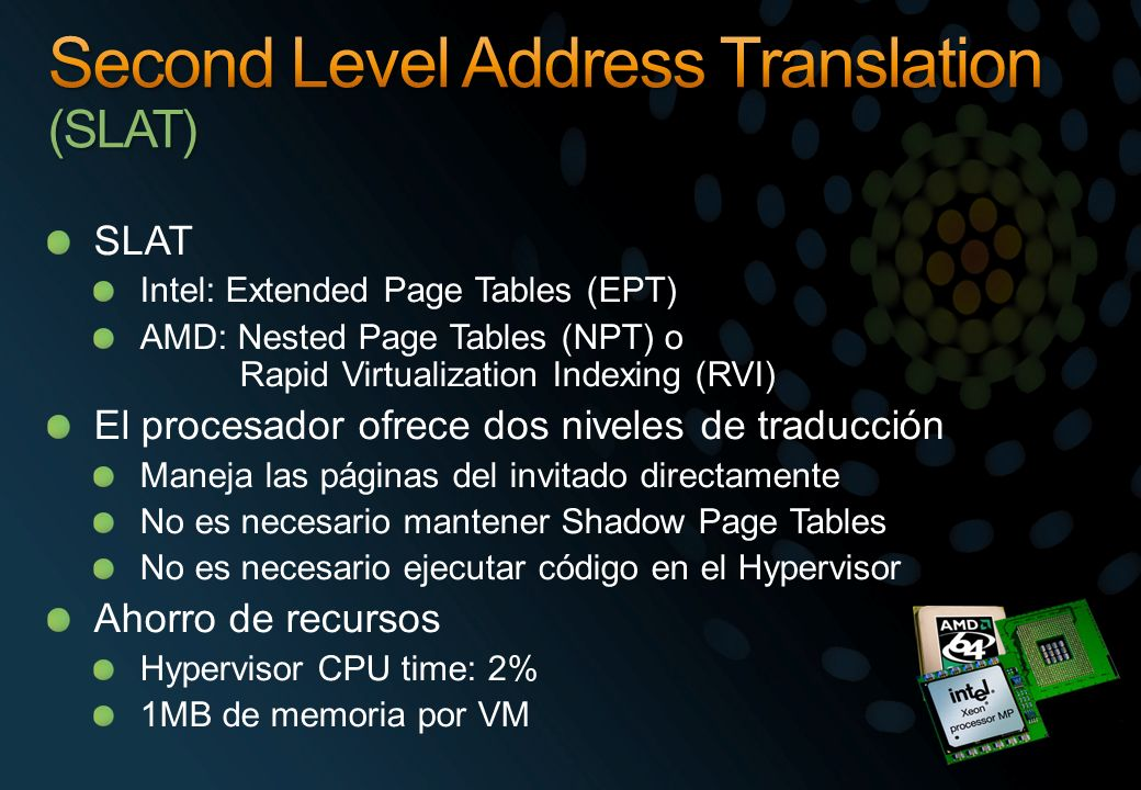 Second Level Address Translation (SLAT)