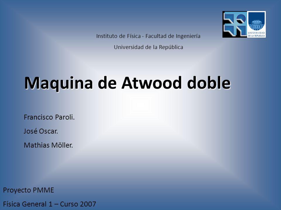 Maquina de Atwood doble