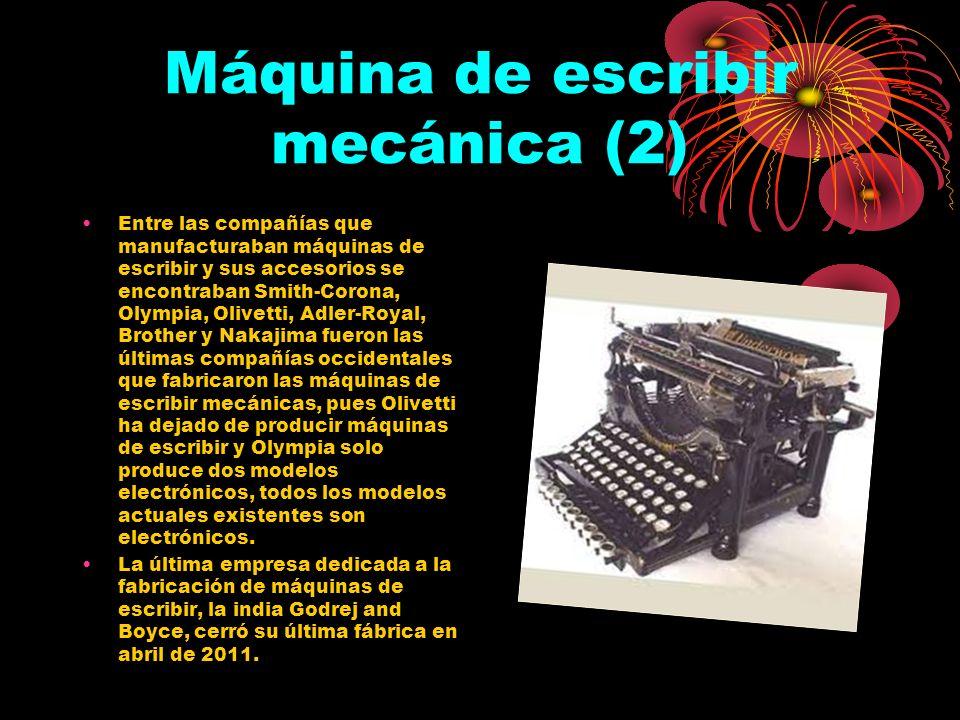 Máquina de escribir mecánica (2)