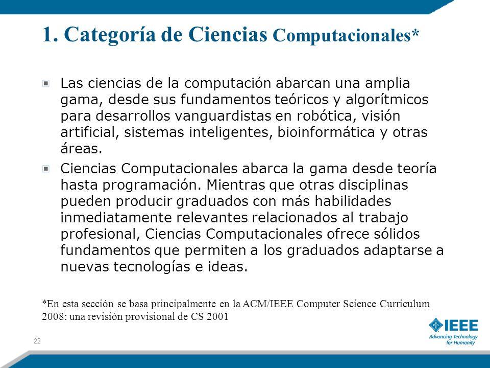 1. Categoría de Ciencias Computacionales*