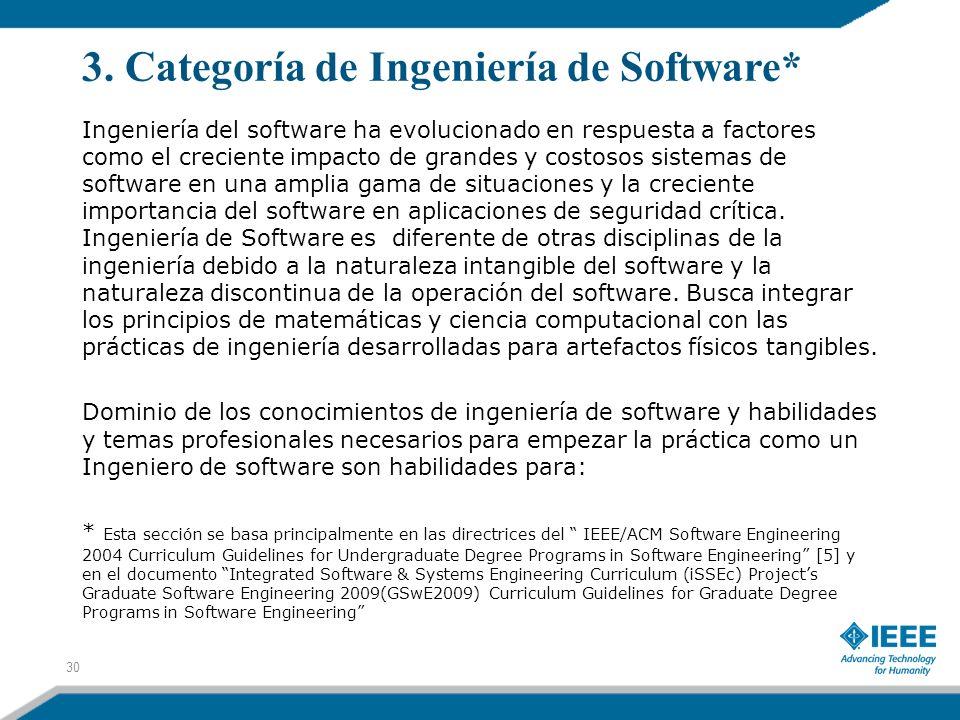 3. Categoría de Ingeniería de Software*