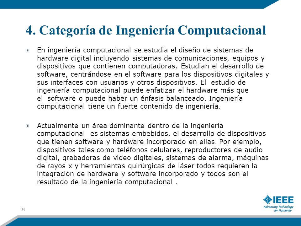 4. Categoría de Ingeniería Computacional