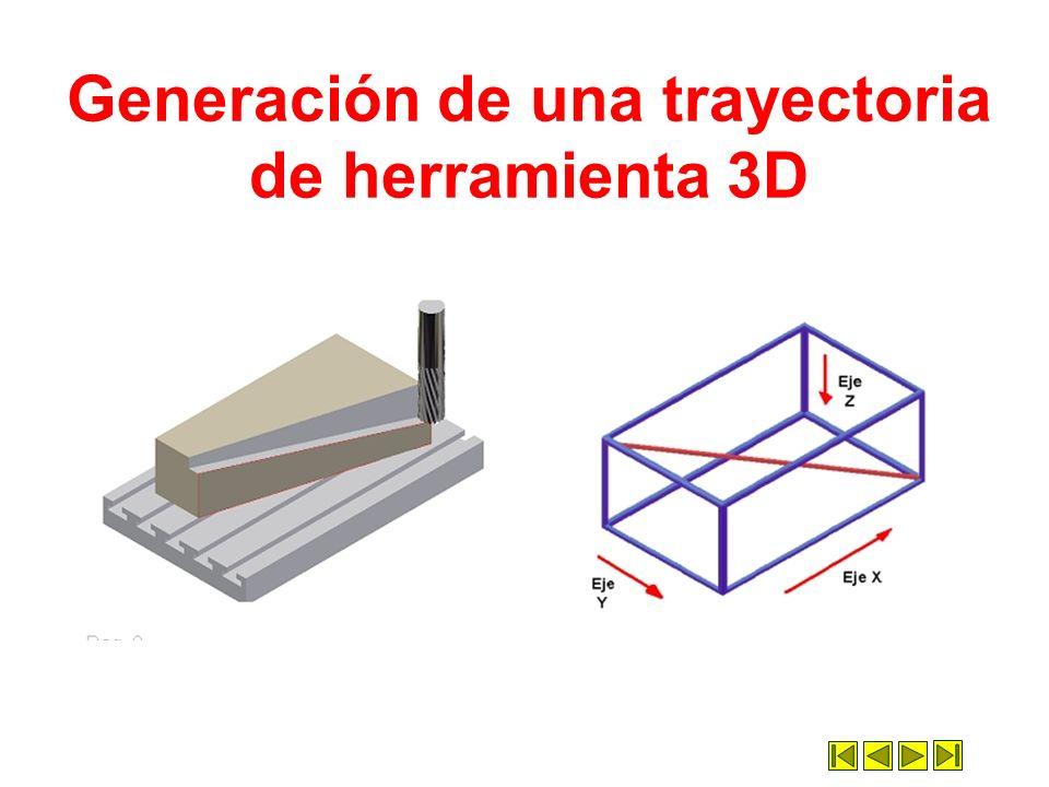 Generación de una trayectoria de herramienta 3D