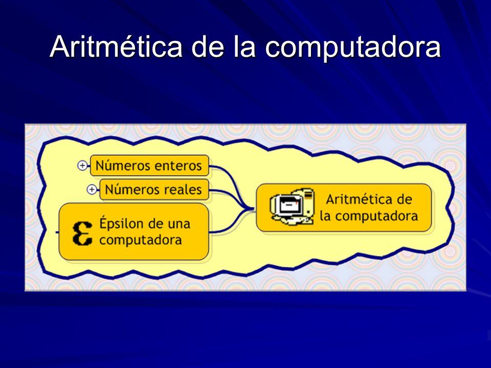 Aritmética de la computadora