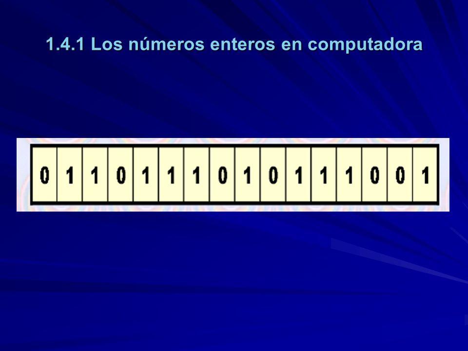 1.4.1 Los números enteros en computadora