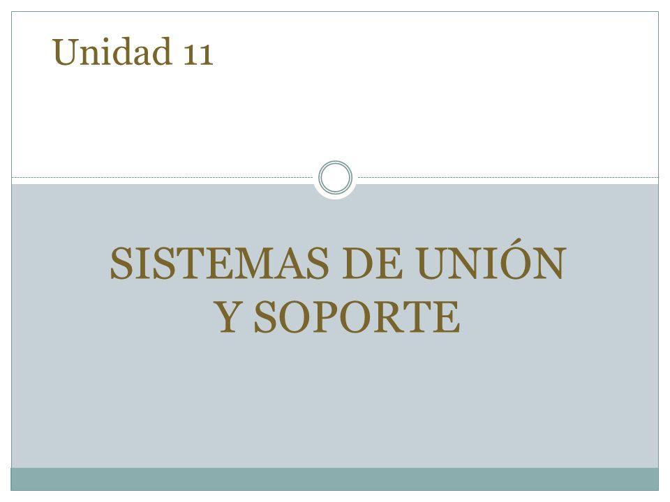 SISTEMAS DE UNIÓN Y SOPORTE
