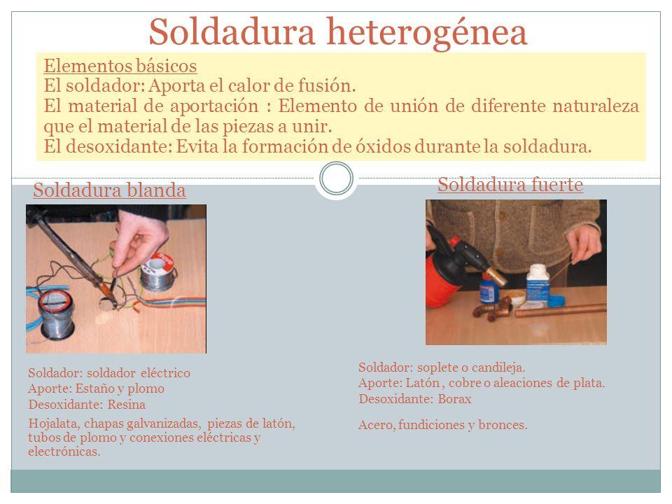 Soldadura heterogénea
