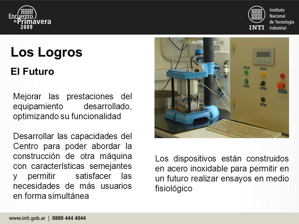 Los Logros El Futuro. Mejorar las prestaciones del equipamiento desarrollado, optimizando su funcionalidad.