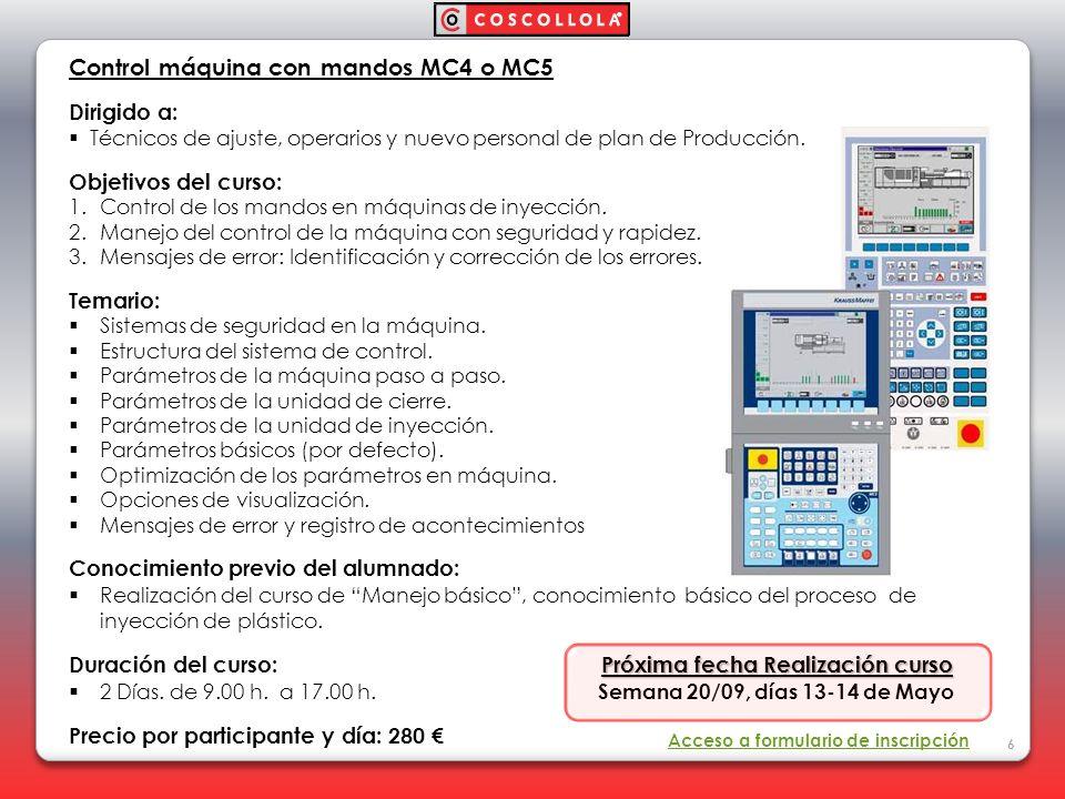 Control máquina con mandos MC4 o MC5