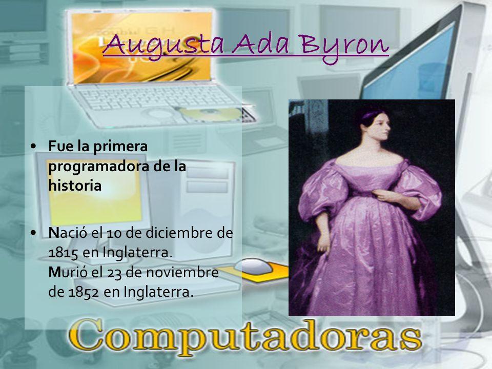 Augusta Ada Byron Fue la primera programadora de la historia