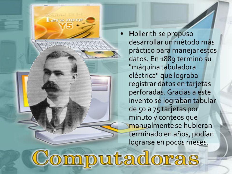 Hollerith se propuso desarrollar un método más práctico para manejar estos datos.
