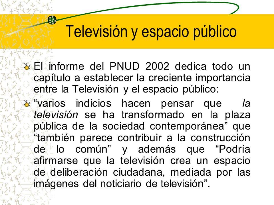 Televisión y espacio público