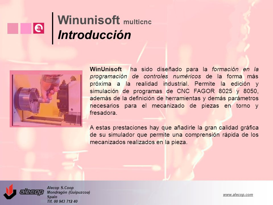 Winunisoft multicnc Introducción