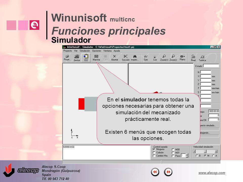 Winunisoft multicnc Funciones principales