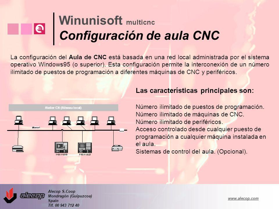 Winunisoft multicnc Configuración de aula CNC