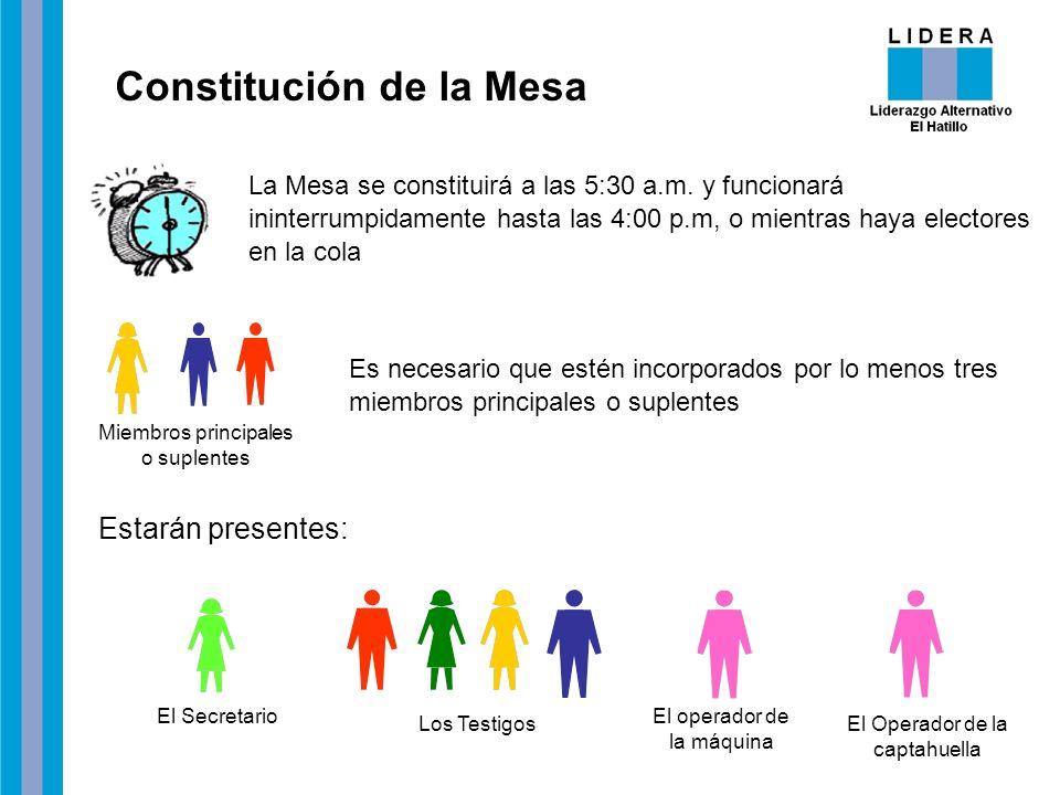Constitución de la Mesa