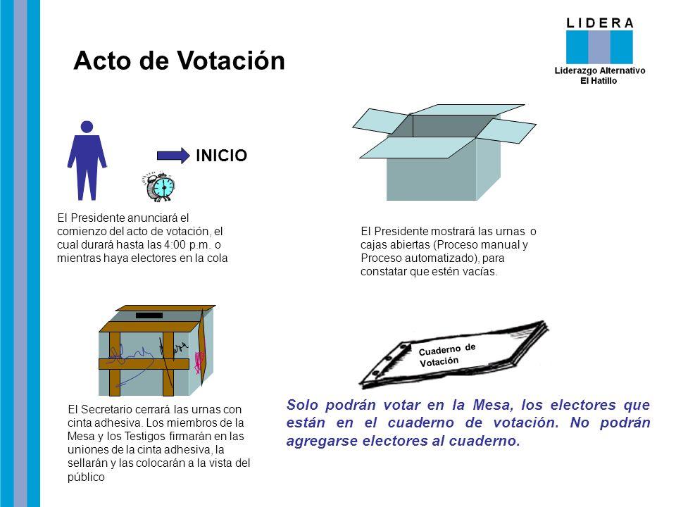 Acto de Votación INICIO