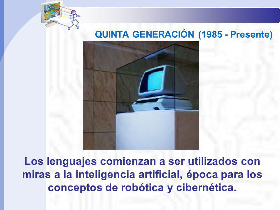 Informática Básica IQUINTA GENERACIÓN (1985 - Presente)