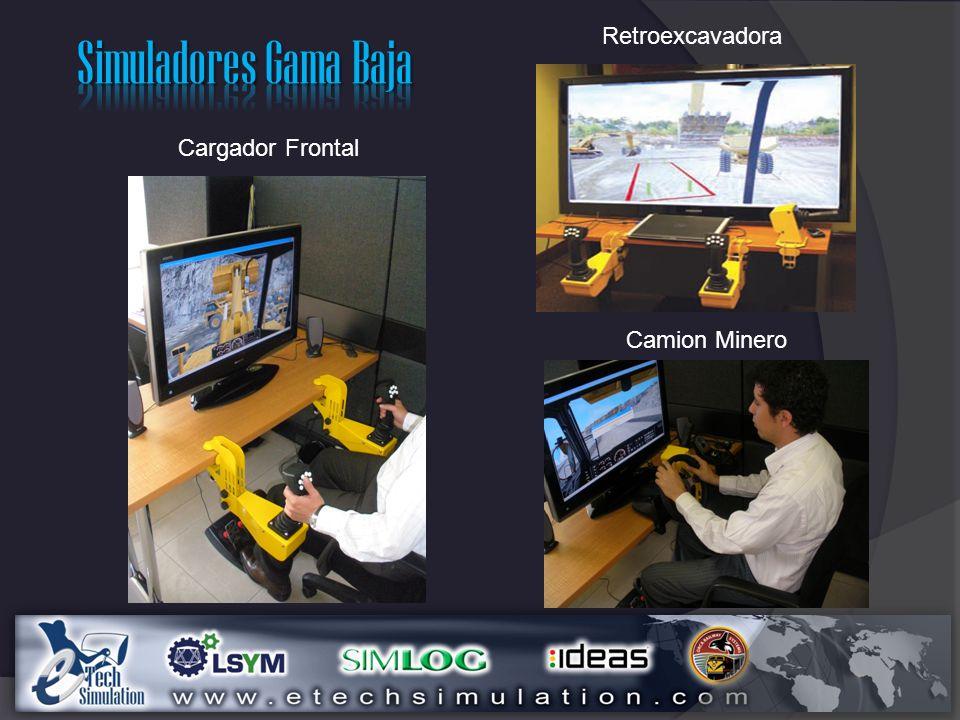 Simuladores Gama Baja Retroexcavadora Cargador Frontal Camion Minero