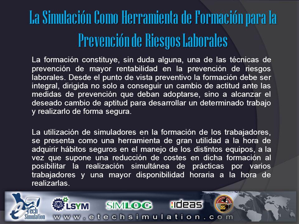 La Simulación Como Herramienta de Formación para la Prevención de Riesgos Laborales