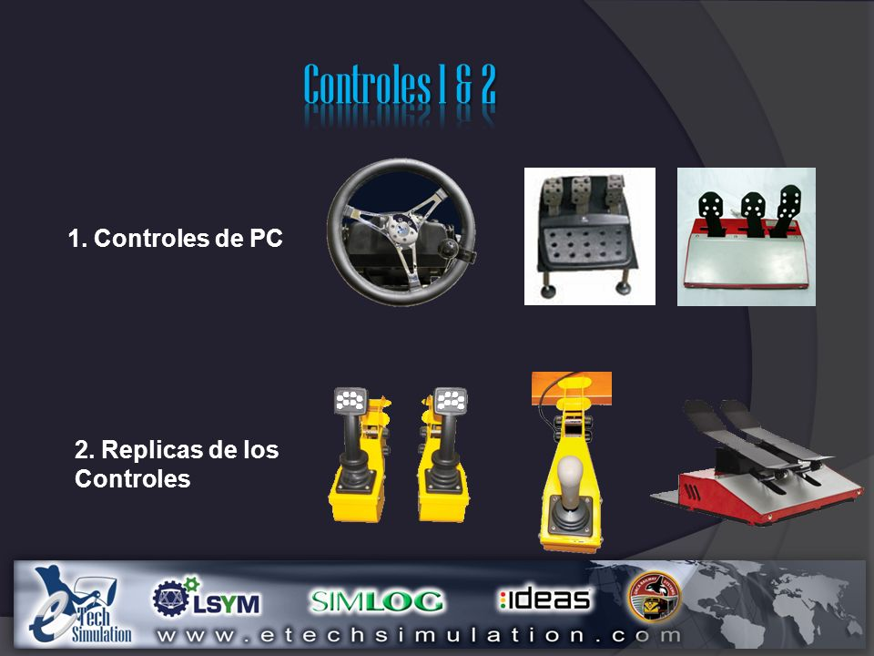 Controles 1 & 2 1. Controles de PC 2. Replicas de los Controles