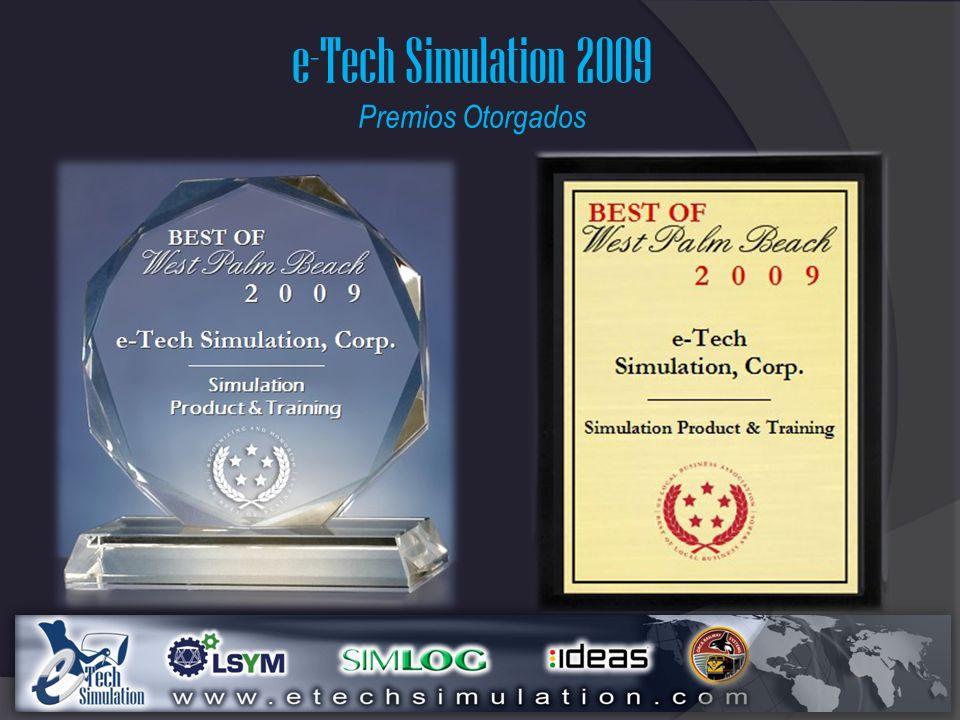 e-Tech Simulation 2009 Premios Otorgados