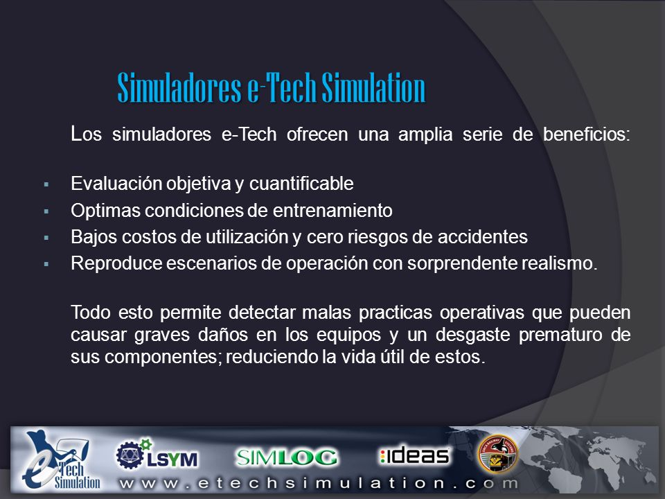 Simuladores e-Tech Simulation