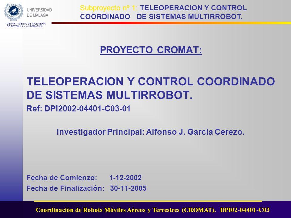 Investigador Principal: Alfonso J. García Cerezo.