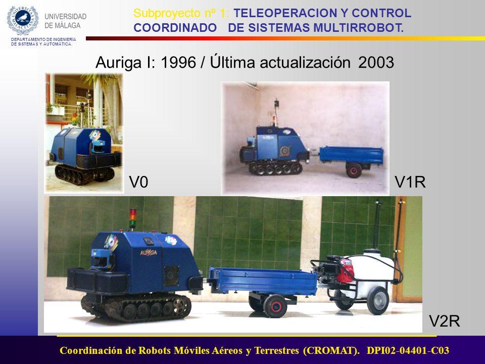 Auriga I: 1996 / Última actualización 2003