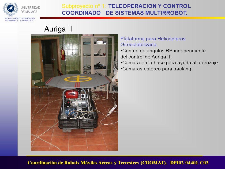 Auriga II Plataforma para Helicópteros Giroestabilizada.