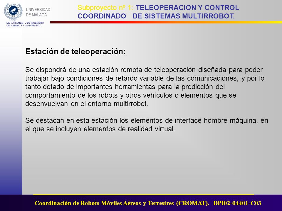 Estación de teleoperación: