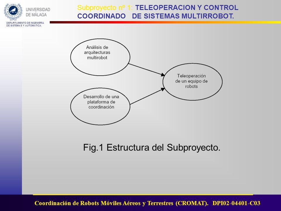 Fig.1 Estructura del Subproyecto.