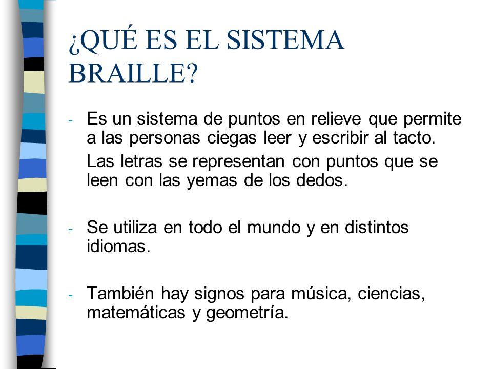 ¿QUÉ ES EL SISTEMA BRAILLE
