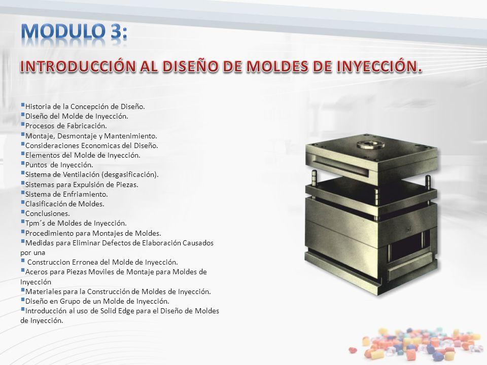 Modulo 3: INTRODUCCIÓN AL DISEÑO DE MOLDES DE INYECCIÓN.