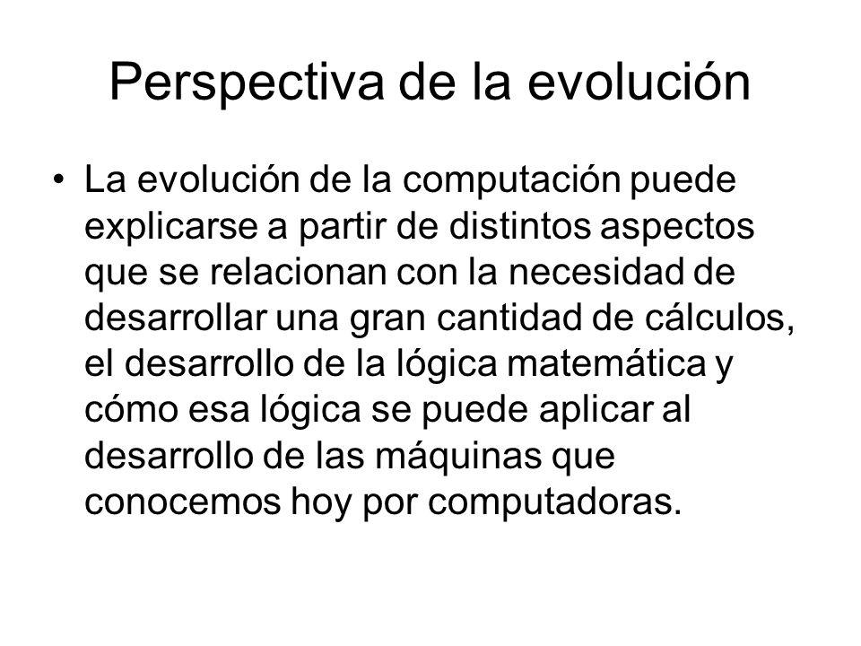 Perspectiva de la evolución