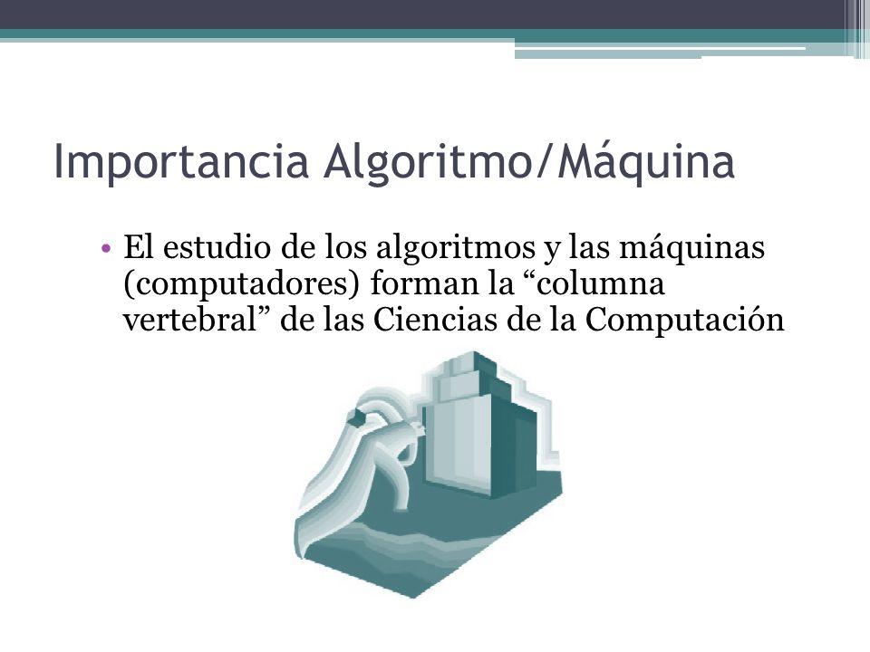 Importancia Algoritmo/Máquina