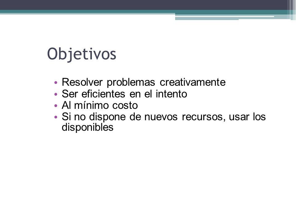 Objetivos Resolver problemas creativamente