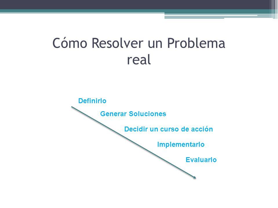 Cómo Resolver un Problema real