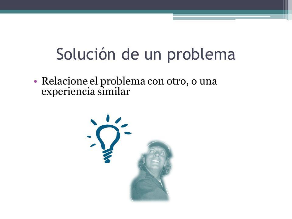 Solución de un problema