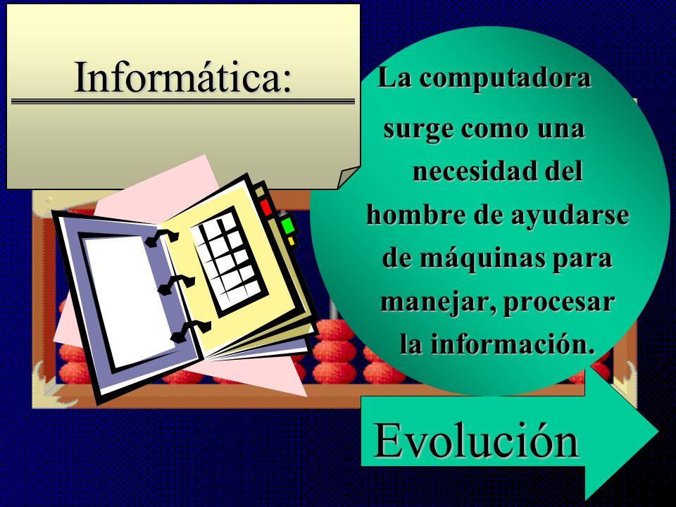 Evolución Informática: La computadora