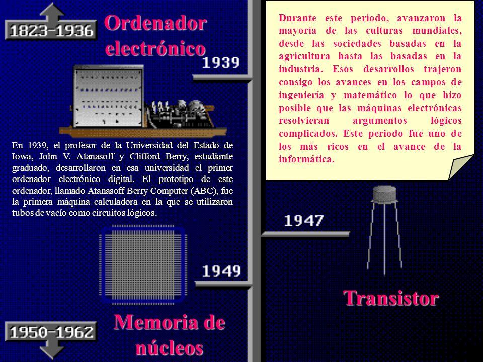 Ordenador electrónico Transistor Memoria de núcleos