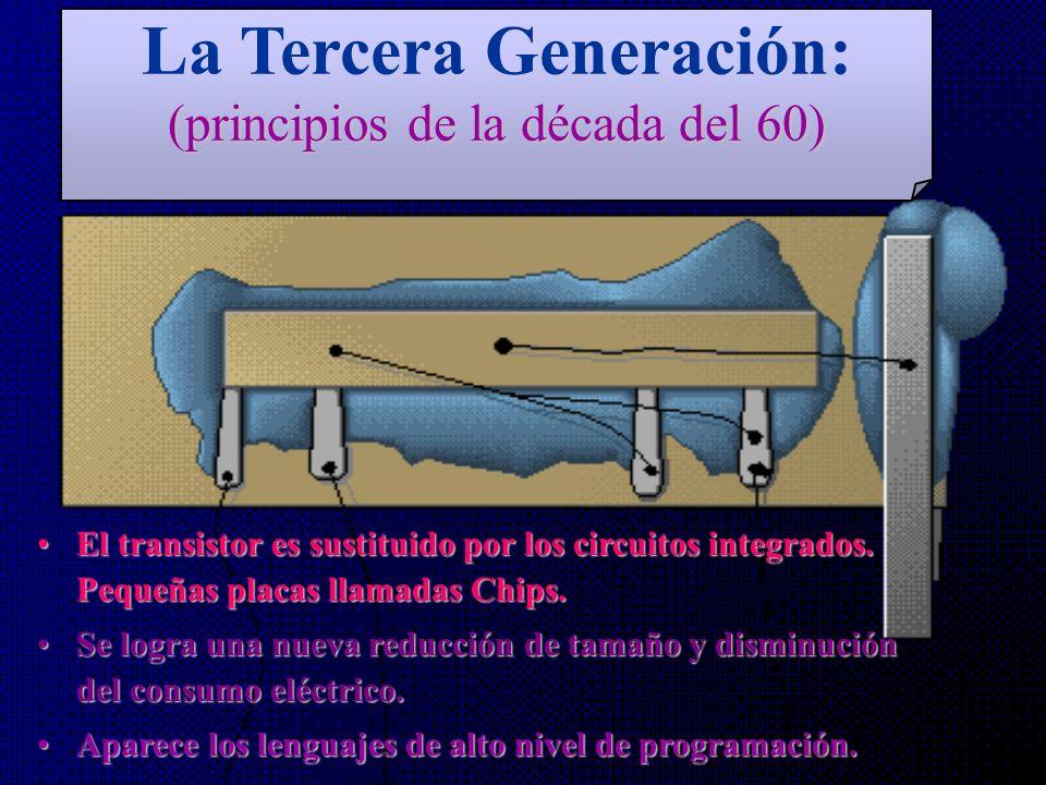 La Tercera Generación: (principios de la década del 60)