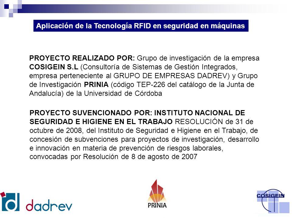 Aplicación de la Tecnología RFID en seguridad en máquinas