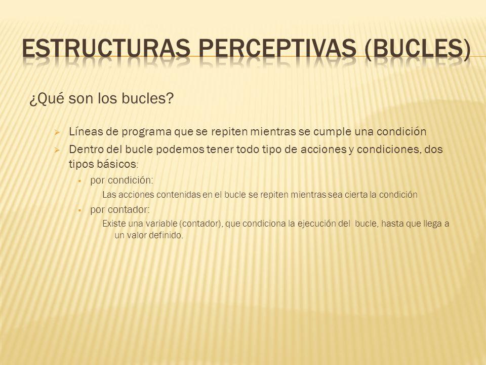 ESTRUCTURAS PERCEPTIVAS (BUCLES)