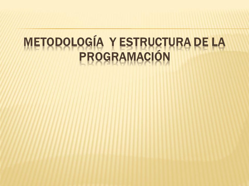 Metodología y estructura de la programación